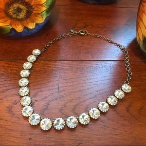 J Crew Clear Crystal Statement Necklace